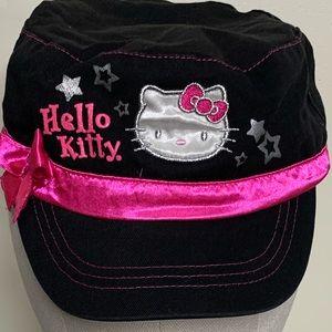 Hello Kitty Cotton/Satin Newsboy Cap